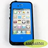New Waterproof Shockproof and Dirtproof Skin Case Cover Pouch for Iphone4,4s Multi Purpose Protective Skin for Underwater Activity,fishing,ski,snowboarding,sand-proof,bath Tub (Blue)