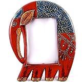 Purpledip elephant photo frame Red & Blue (ele05)