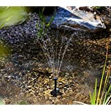 Sellify Black : 1set Irrigation System Solar Power Fountain Pool Water Sprinkler Pump Garden Tools Sun Plants...