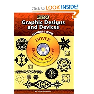 380 Graphic Designs and Devices (Dover Electronic Clip Art) (CD-ROM and Book) (Nov 16, 2007)