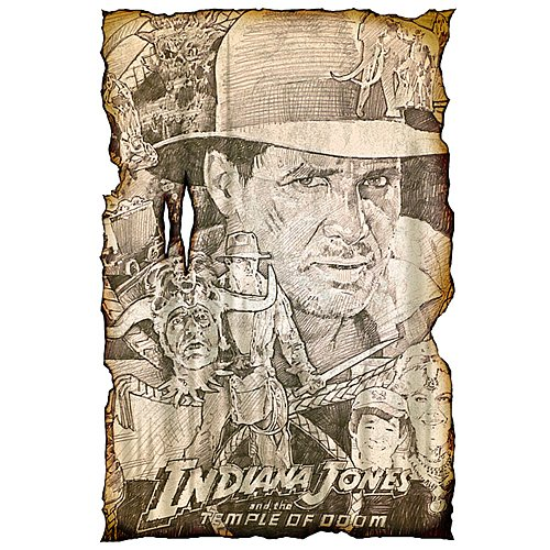 Indiana Jones and the Temple of Doom Key Art Concept Giclee