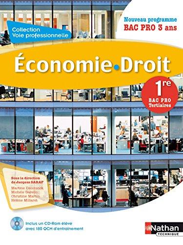 Economie droit 1e bac pro tertiaires nouveau programme - Programme bac pro cuisine ...