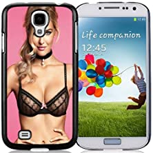 buy New Personalized Custom Designed For Samsung Galaxy S4 I9500 I337 M919 I545 R970 L720 Phone Case For Bar Refaeli Black Lace Bra Phone Case Cover