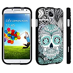DuroCase ® Samsung Galaxy S4 Hard Case Black - (Day of the Dead Skull)