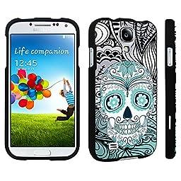 DuroCase ® Samsung Galaxy S4 Hard Case Black - (Day of the Dead Skull)