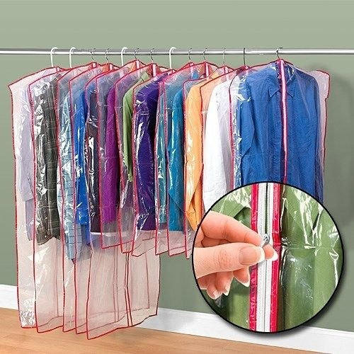 13 Zippered Garment Bags Keep Waredrobes Safe Dress Suit Cover Clear Dust Clean (Garment Bags Set Of 13 compare prices)