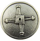 Irish Catholic Brigids Cross with St Saint Blessing Pocket Token