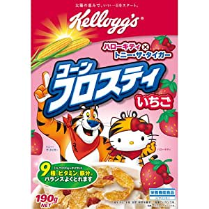 Japan Cereals Corn Frosty Strawberry Hello Kitty ver 190g × 5 pieces