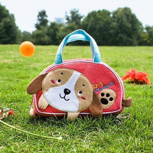 [Little Dog] Embroidered Applique Kids Mini Handbag / Cosmetic Bag / Travel Wallet (7.1*4.3*2)
