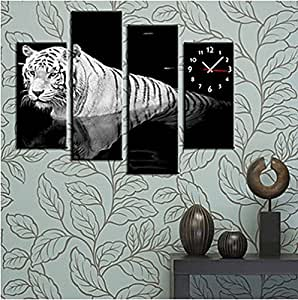 wall clock in canvas set of 4 wall clock decorative living room 1