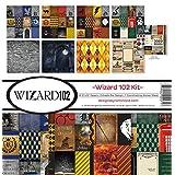 Reminisce (REMBC) WIZA-201 Wizard 102 Scrapbook Collection Kit, 12-x-12-Inch, Multi Color Palette (Color: Multi Color Palette, Tamaño: 12-x-12-Inch)