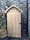 Decorative small wooden shed, outside storage unit, handmade with FSC tanalised timber, 6ft tall