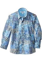 Isaac Mizrahi Little Boys' Two Tone Botanical Shirt
