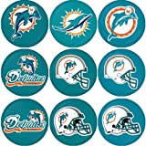 "Miami Dolphins NFL Round Badge 1.75"" Badge Magnet at Amazon.com"