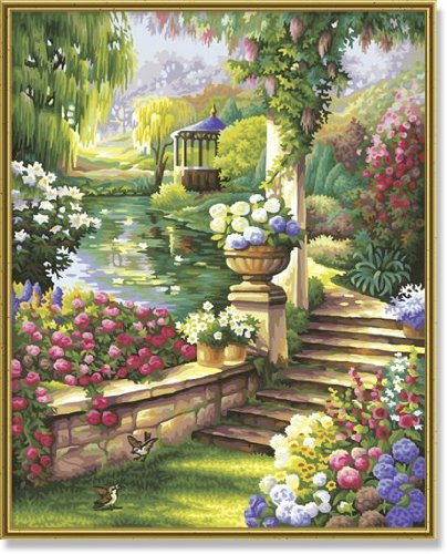 Paradisal Garden Paint-By-Number Kit