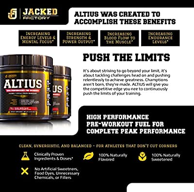 ALTIUS Pre-Workout Supplement - Naturally Sweetened - Clinically Dosed Powerhouse Formulation - Increase Energy & Focus, Enhance Endurance - Boost Strength, Pumps, & Performance - Mixed Berry Blast, 406g