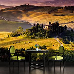 Tuscany hills italy wallpaper mural for Amazon mural wallpaper