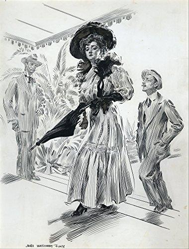 She salpata majestically passato il Wretch, docilmente seguita da Settimo da James Montgomery Flagg poster Stampa Digitale, Carta, 25.16 x 33.10 Inches