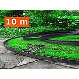 """DIY.PLUS.GARDEN 10 Meters , Black : """"BUY IN UK"""" 10 Metre - Flexible Plastic Lawn Edging With 60 Securing Pegs - Anchor Included-Flexible Garden Edging, Flexible Lawn Edging, Plastic Garden Edging, Flexible Garden Lawn, Garden Ideas, Garden Desig"""