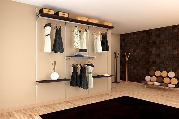 Armadio cabina a muro su misura. Prodotto di alta qualità. Alluminio no acciaio.L.200-300 cm. Altezza 253 cm.