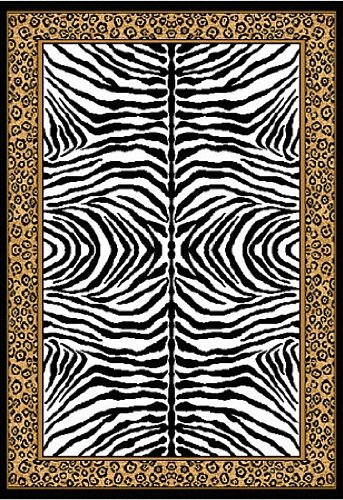 "Home Dynamix Area Rugs: Zone: 75: Leopard on Zebra Rug 5' 3""x7' 5"