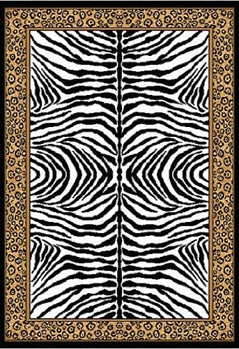 Home Dynamix Zone 75-502 Ebony 7-Feet 8-Inch by 10-Feet 7 Animal Print Area Rug