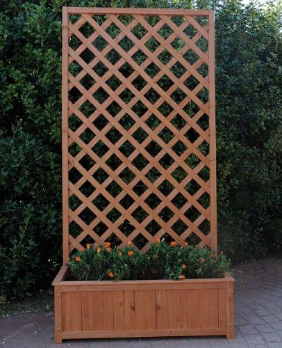 Grigliati in legno ikea pannelli termoisolanti for Fioriera con spalliera plastica
