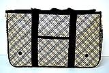 ペットキャリーペットバック ペットカート 折りたたみ式 通気性良好 メッシュ加工 猫 犬(小型犬) (アーガイルチェック イエロー, S)