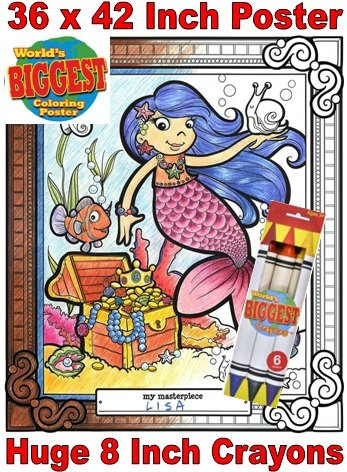 Just For Laughs World's Biggest Coloring Posters Combo- Mermaid - 1