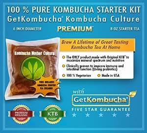 getkombucha, KOMBUCHA STARTER KIT, Make Raw Organic Kombucha Tea Starter Kit ...