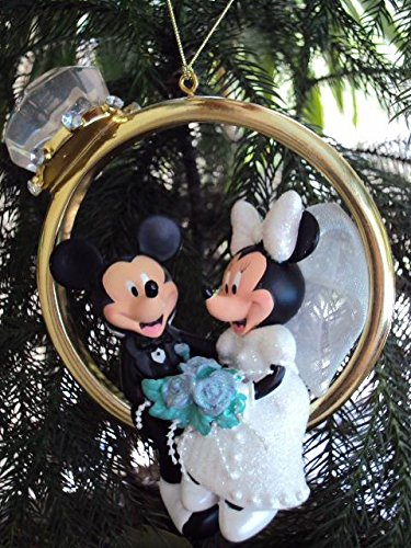 Disney Mickey & Minnie Wedding Ring Ornament