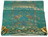 Valintino Textile Silk Runner - Green