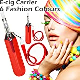 Red Electric Cigarette Carrying Pouch & Lanyard Neck Strap for ego ecigarette e cigarette electronic cigarette eliquid e liquid