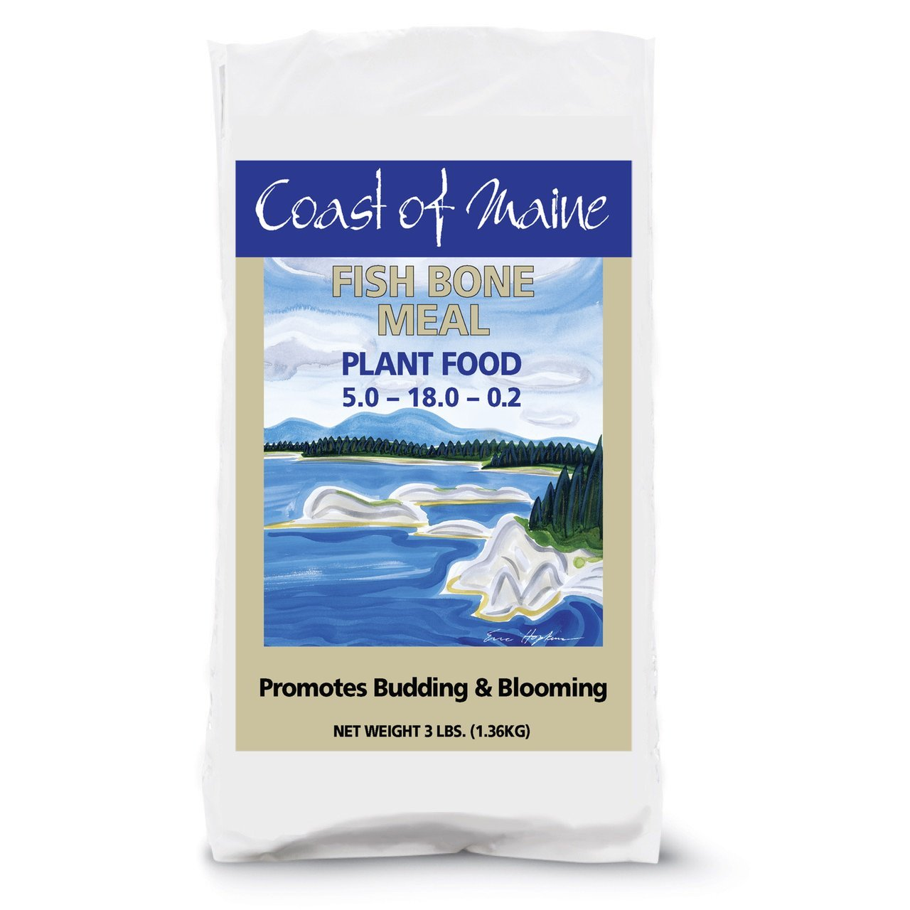 Coast of Maine Fish Bone Meal - Soil Amendment, Budding & Blooming, Calcium, Phosphorus Plant Food Fertilizer coast of maine fish bone meal soil amendment budding
