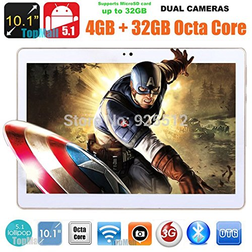 Black (10)9.7 inch 8 core Tablet PC Octa Cores 2560X1600 IPS RAM 4GB ROM 32GB 8.0MP WIFI 3G Dual sim card Wcdma+GSM Tablets PCS Android5.1