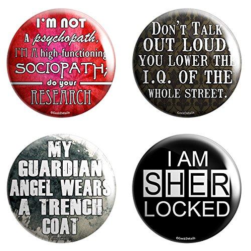 "1"" Sherlock Quote Minis Pinback Button Pack"