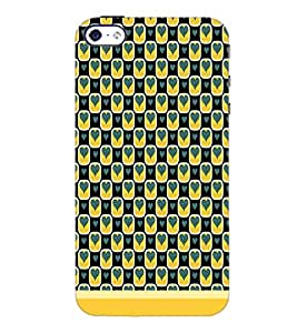 PrintDhaba Pattern D-1629 Back Case Cover for APPLE IPHONE 5 (Multi-Coloured)