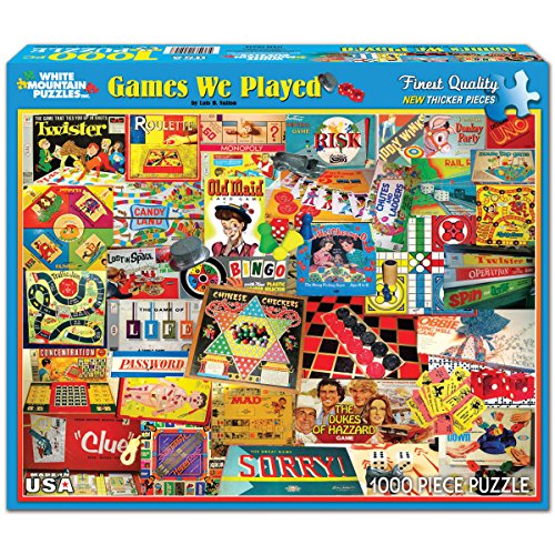 The Games We Played - 1000 Piece Jigsaw Puzzle