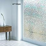 モザイクタイルシール 浴室 目隠しシート ベランダ ガラスフィルム 断熱 再利用可能 紫外線カット ガラスシート 45*150cm