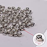 KLOUD City®100pcs Silver 6mm Copper Made Fashion Jingle Bell/ Small Bell/ Mini Bell for DIY Bracelet Anklets Necklace Knitting/ Jewelry Making Accessories