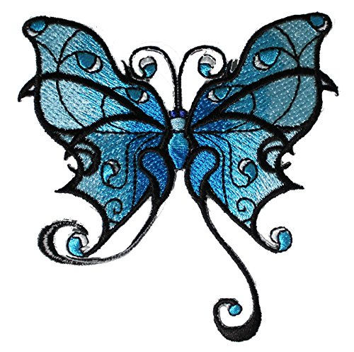 Application DSX Blue Tribal Tatto Butterfly Patch