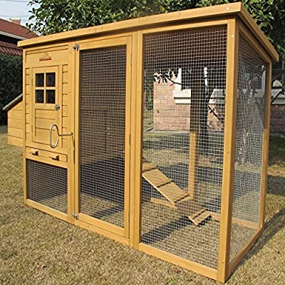 Chicken Coops Imperial® Monmouth Large Chicken Coop Hen House Ark Poultry Run Nest Rabbit Hutch Box Suitable For Up To 4 Birds - Integrated Run & Cleaning Tray & Innovative Locking Mechanism