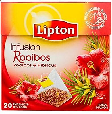 4x 20 Lipton Rotbuschtee Rooibos mit Hibiskusblüten