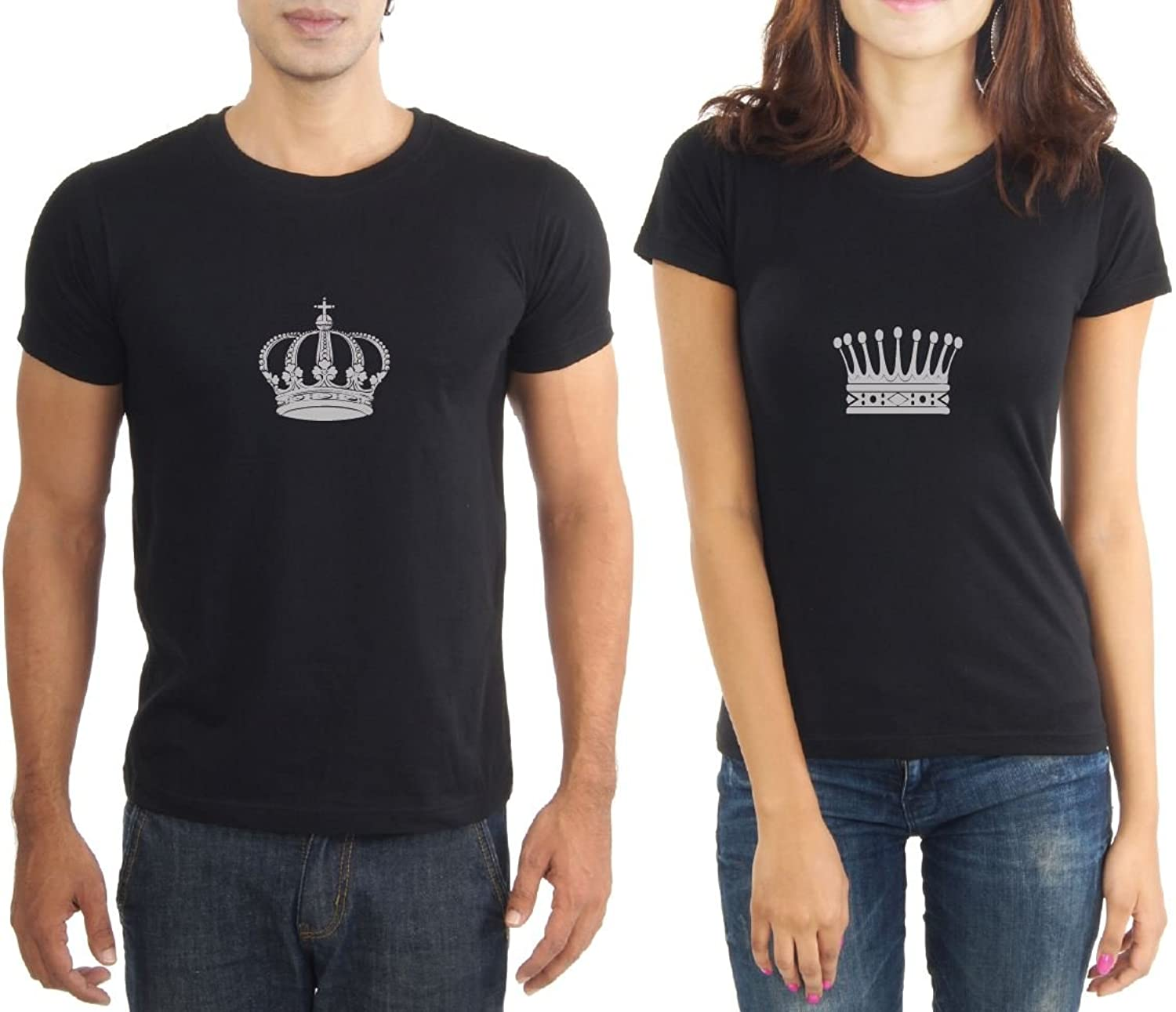 LaCrafters Mens Tshirt - King and Queen Couples Tshirt_Black