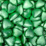 Hydrangea Green Chocolate Foil Wrapped Hearts 50 Pcs (280g) - From Sweet Factore