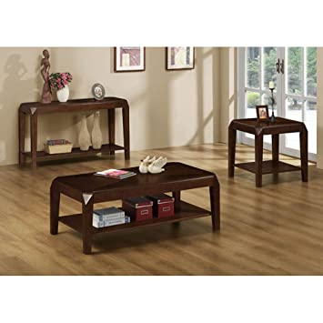 Monarch Specialties Veneer Sofa Table, Brown Oak