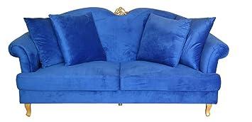 Sofa im Barockstil Samt Royalblau