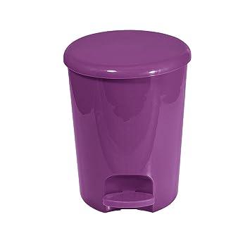frandis p350108 poubelle p dale p dale ronde plastique aubergine 5 l l 20 x 25 cm. Black Bedroom Furniture Sets. Home Design Ideas