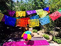 MesaChic Mexican Paper Picado Banner, Multicolor, Large by MesaChic