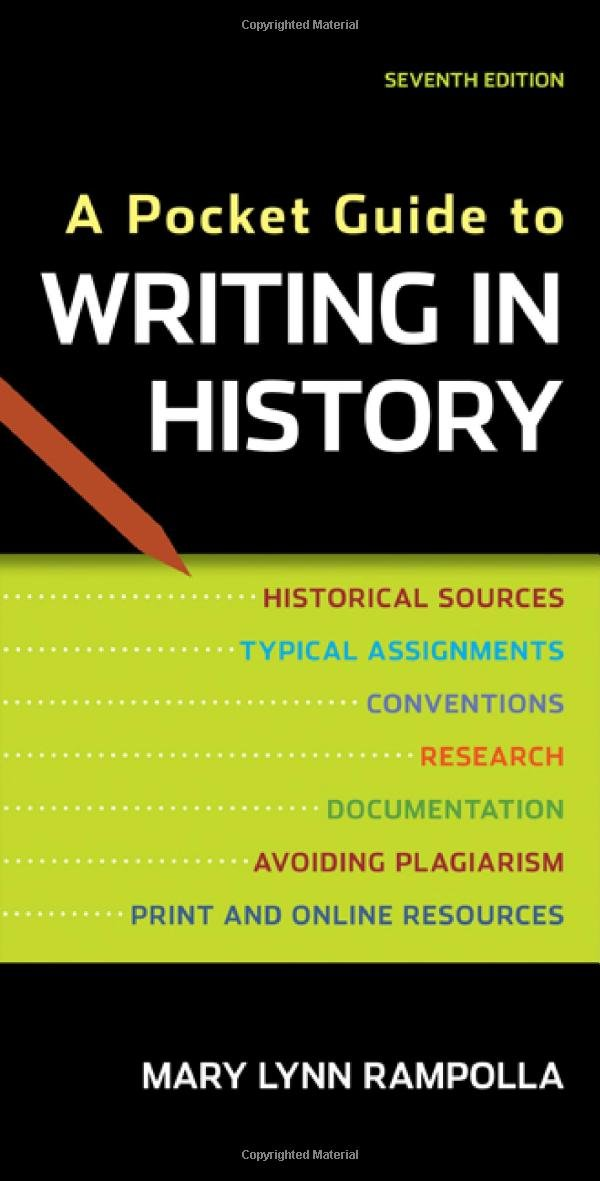 A Pocket Guide to Writing in History, Rampolla, Mary Lynn